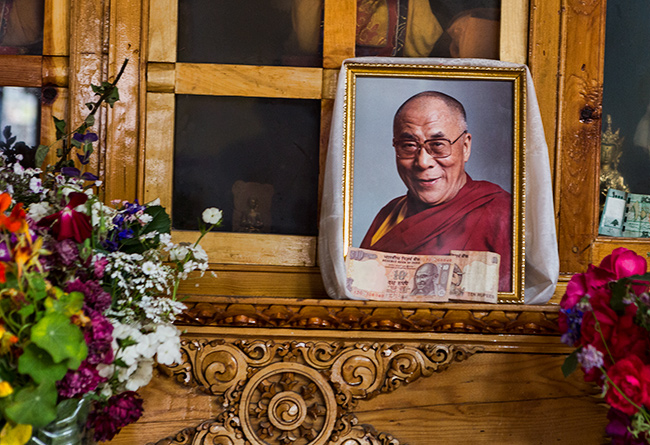 Picture of the Dalai Lama at the Chokhang Vihara Gompa, Leh, Ladakh, India