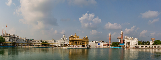 Harmandir Sahib or the Golden Temple in Amritsar