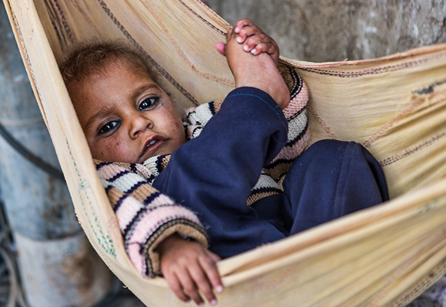 Baby in Leh, India