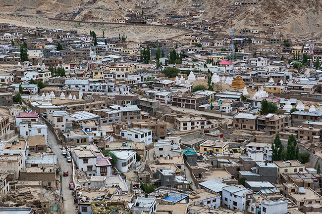 View from the palace in Leh, India
