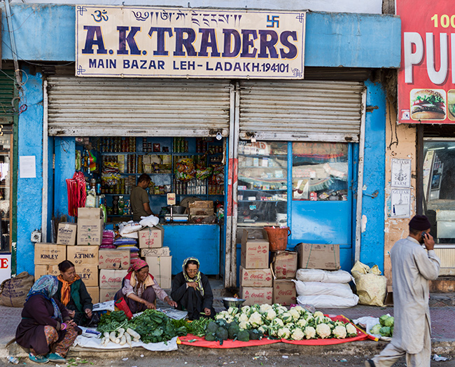 Market Leh, India
