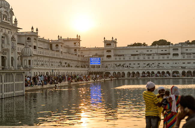Evening at the Golden Temple in Amritsar