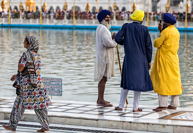 People Watching at the Golden Temple in Amritsar