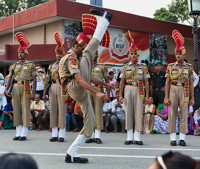 Wagah Border Soldiers