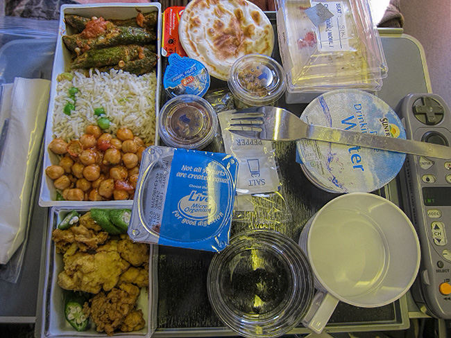 Singapore Airlines Vegetarian Meal