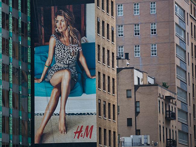 Advertisement in New York City