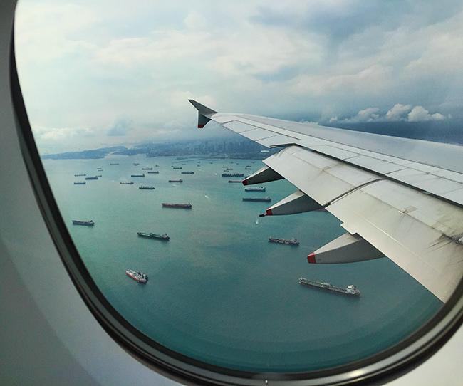 Approaching Changi