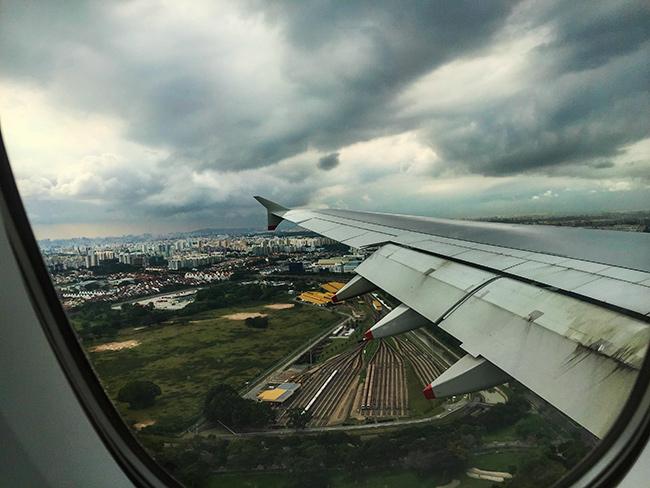 Landing in Changi