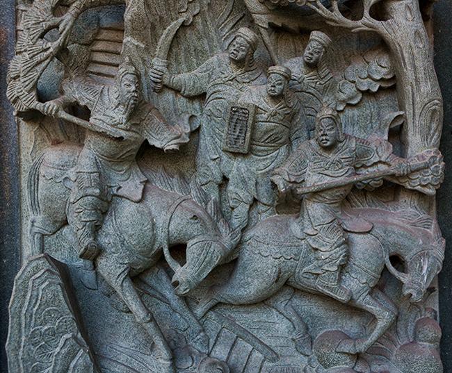 Chinese Tempel detail in Georgetown