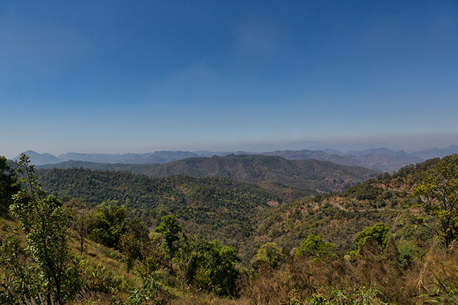 View from the Mountain toward Mea Hong Son