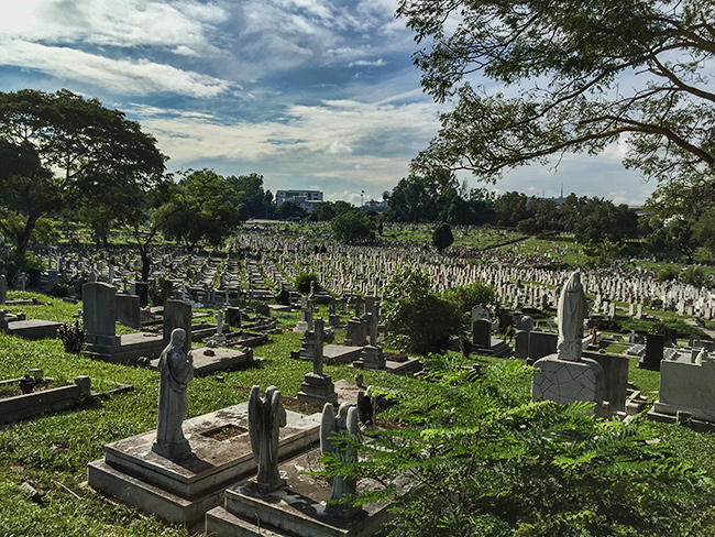 Graveyard in Kuala Lumpur