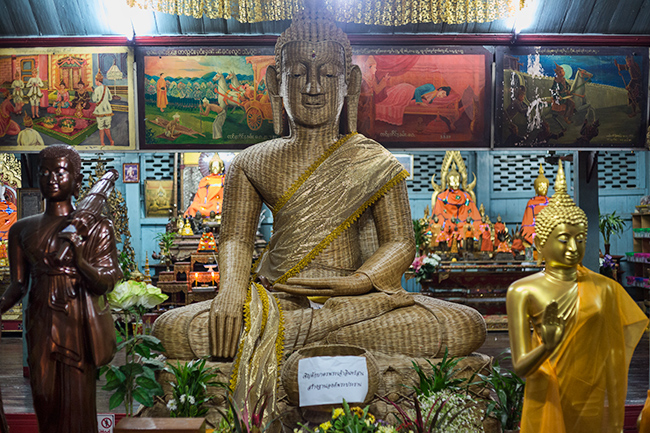 Inside the temple  in Mae Hong Son
