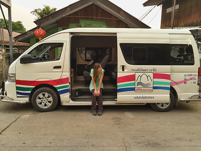 AYA Mini Bus from Pai to Luang Prabang
