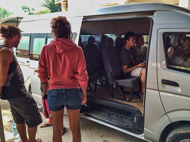 Bus to Vang Vieng