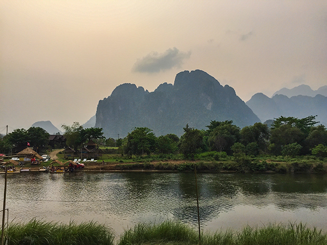 Mountain View in Vang Vieng