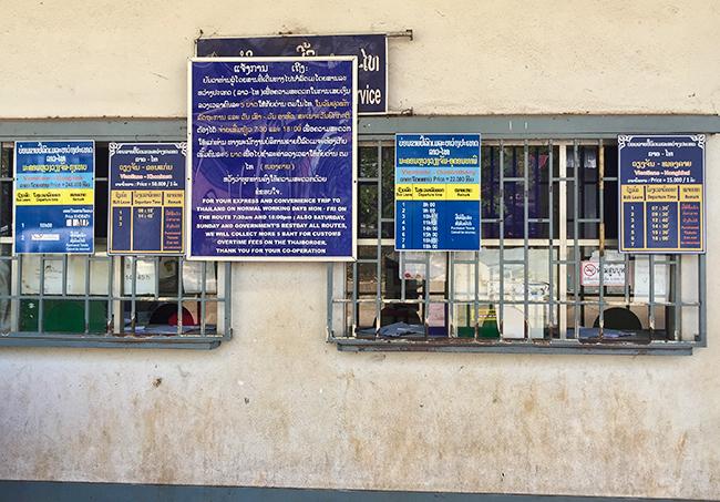 Ticket Window Bus Station Vientiane