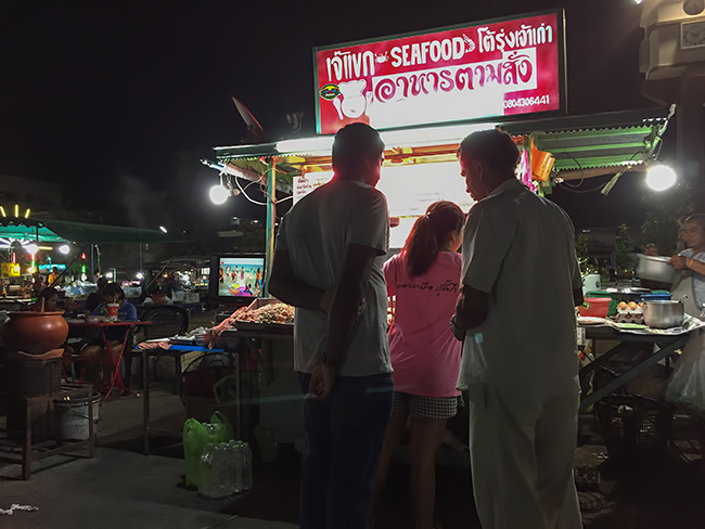 At the night market in Prachuap Khiri Khan