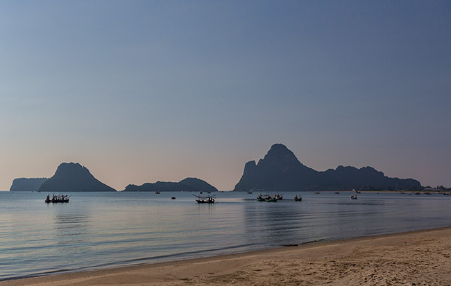 The beach in Prachuap Khiri Khan