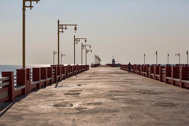 The pier in Prachuap Khiri Khan