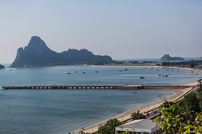 View over the Beach of  Prachuap Khiri Khan