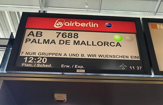 Majorca 2015 Airport Stuttgart