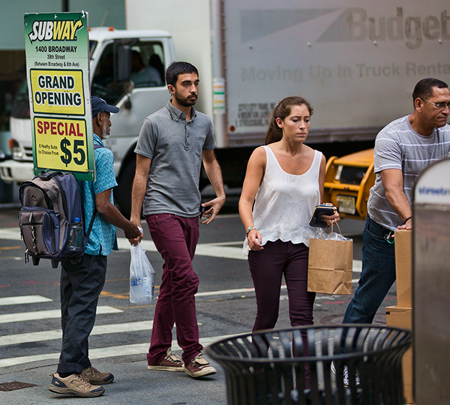People in New York City