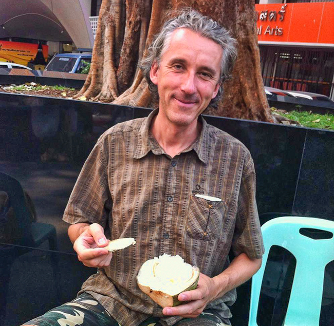 Marc with coconut