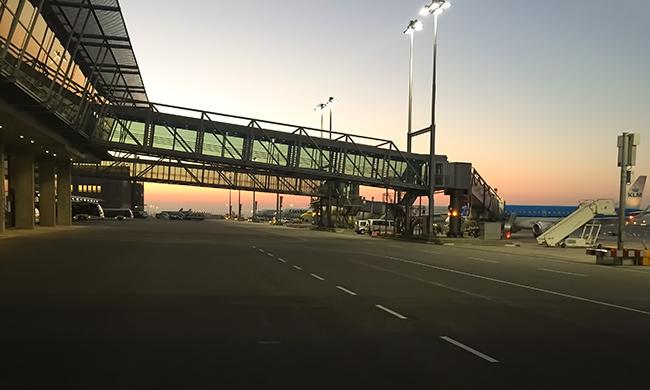 Sunrise at Stuttgart Airport