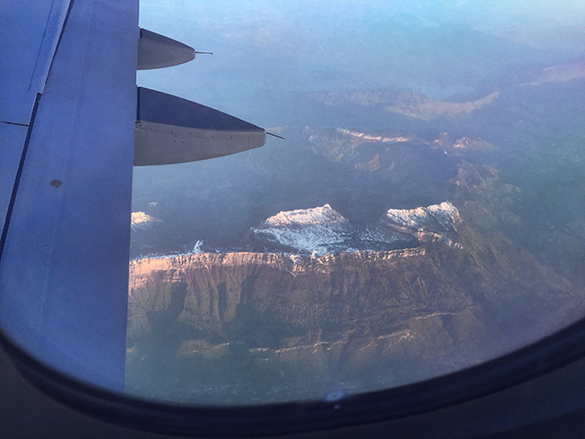 Somewhere from the plane