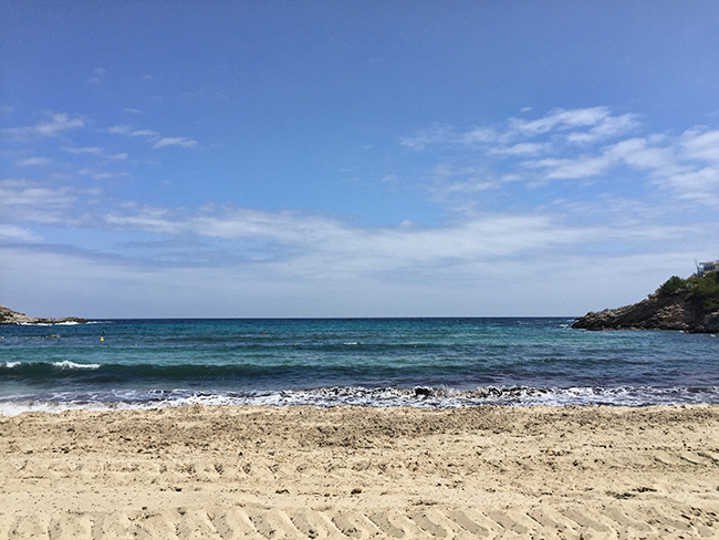 Fresh cleaned beach