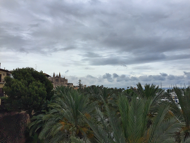 Dark clouds over Palma