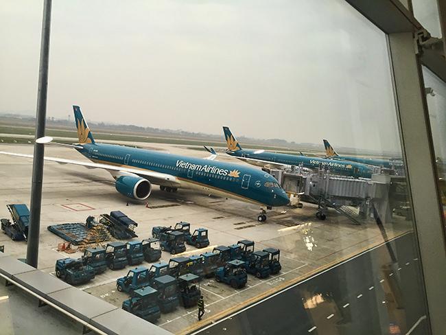 Hanoi airport - as gray as Frankfurt