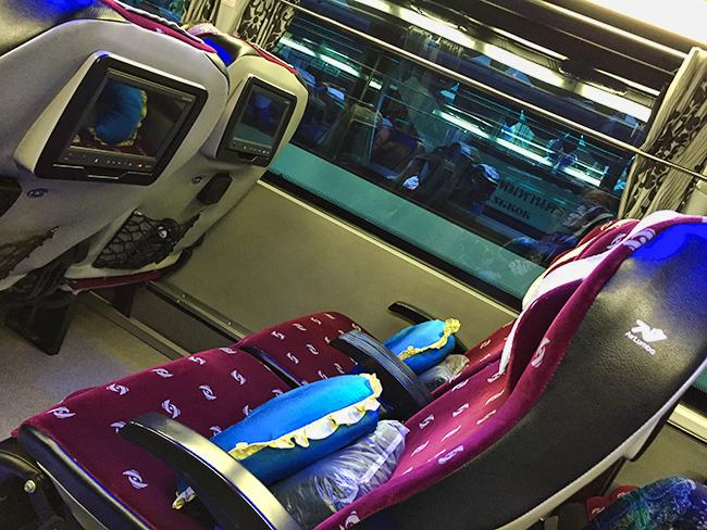 Bangkok Bus Lines seat