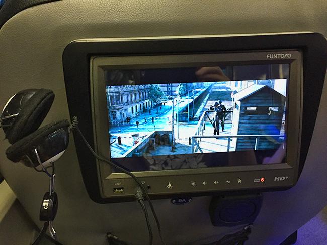 Bangkok Bus Lines entertainment system