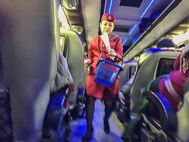 Bangkok Bus Lines stewardess