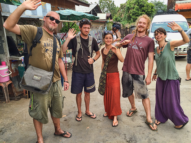 Last good bye at the bus station in Pai