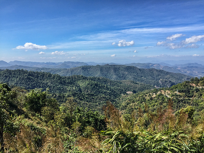 Up on the viewpoint between Pai and Mae Hong Song