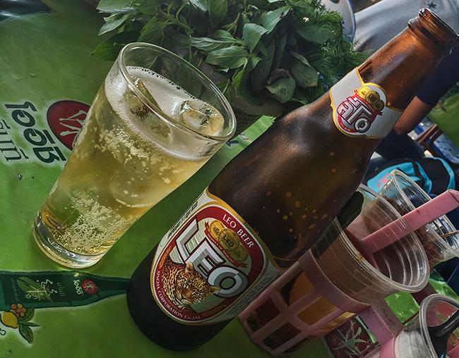 Cold Leo beer