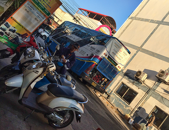 Morning at the Udon Thani Bus Station