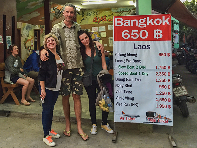 Irini and Romi leave for Laos