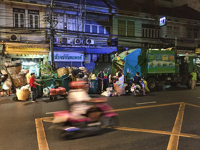Recycling on the streets of Bangkok