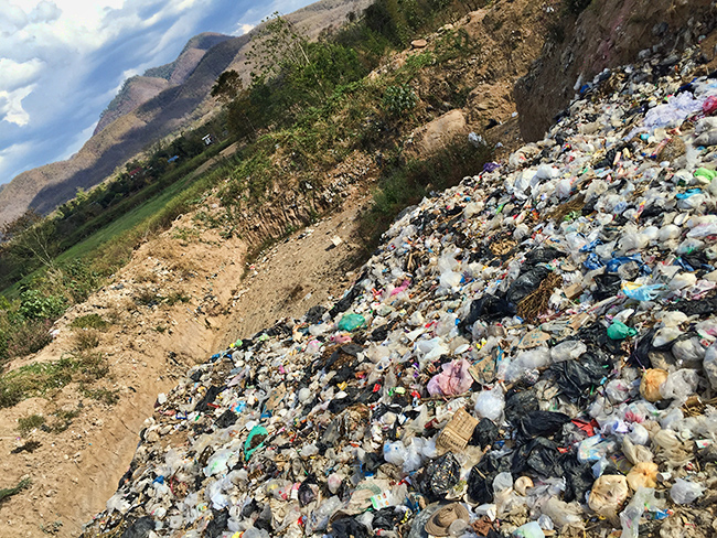 One of the landfill sites in Pai