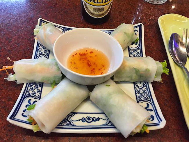 Dinner - Fresh Spring rolls