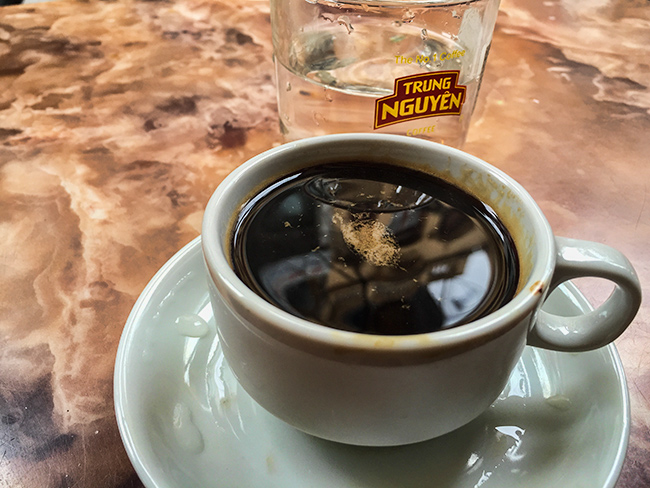 Last coffee in Hanoi before the trip