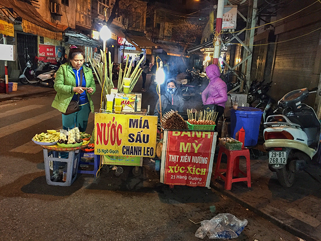 Sugar cane juice seller