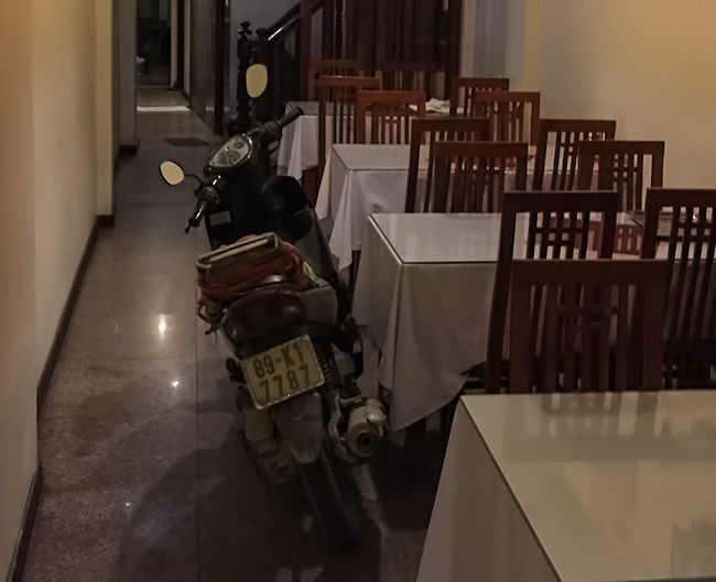 Bike in the Hotel