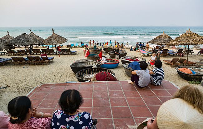Out at the beach in Hoi An