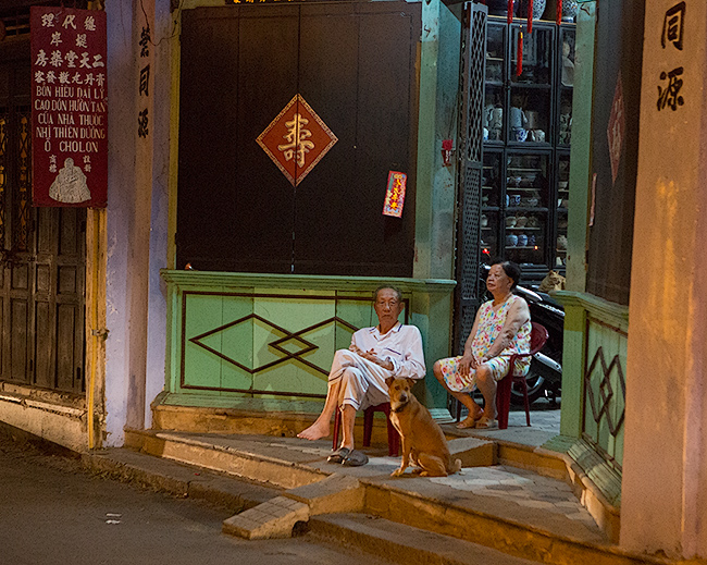 Old Chinese couple in Hoi An