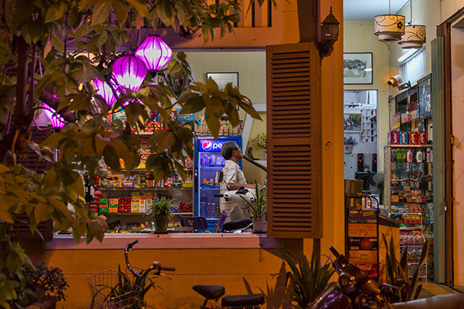 Small corner market in Hoi An