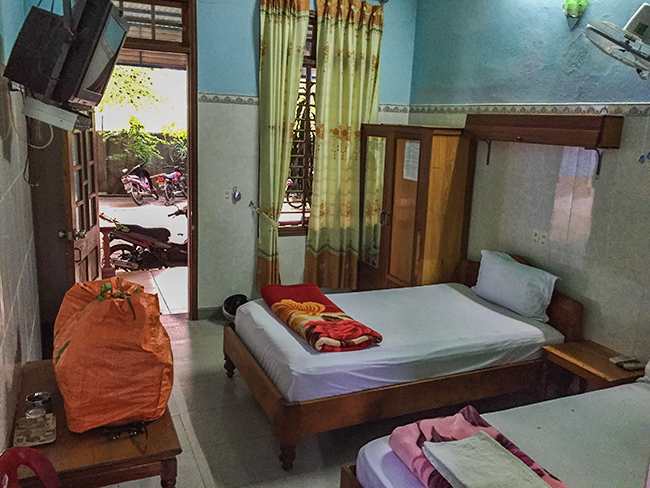 My room at the Thanh Quang Guest House in  A Luoi